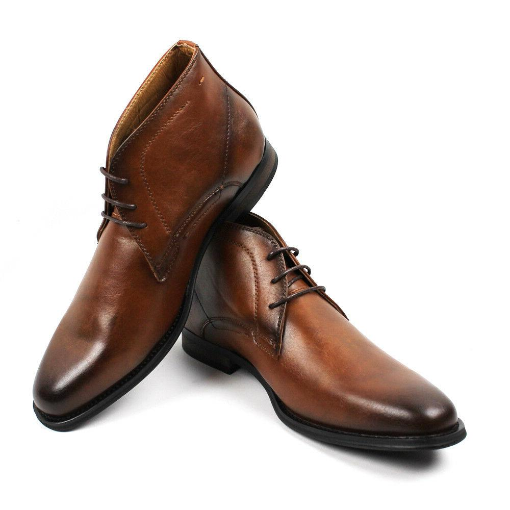 men s ankle dress boots round toe
