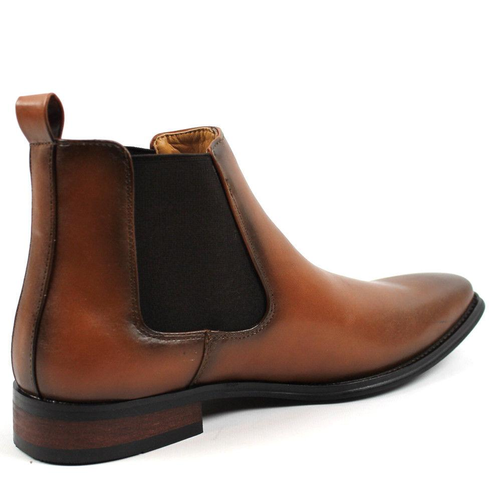 Men's Slip On Almond Toe Leather D-510