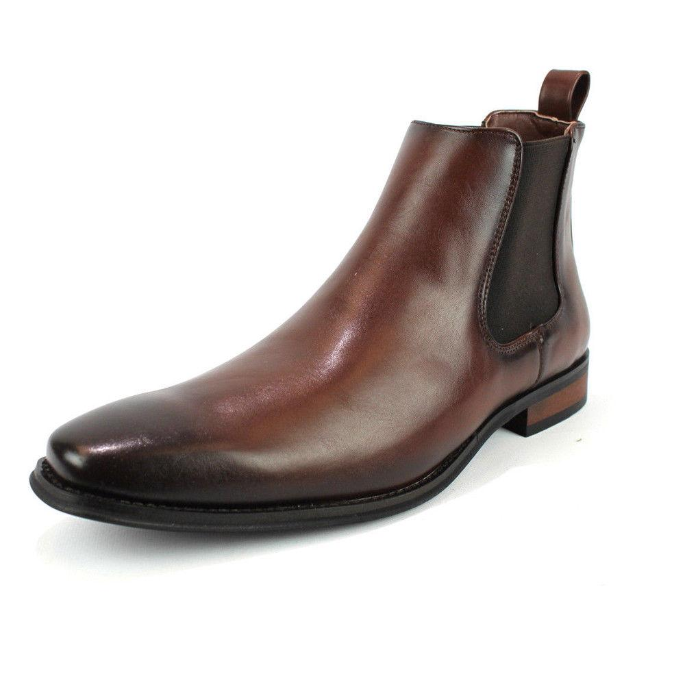 Men's Dress Slip On Toe Leather Chelsea Luciano