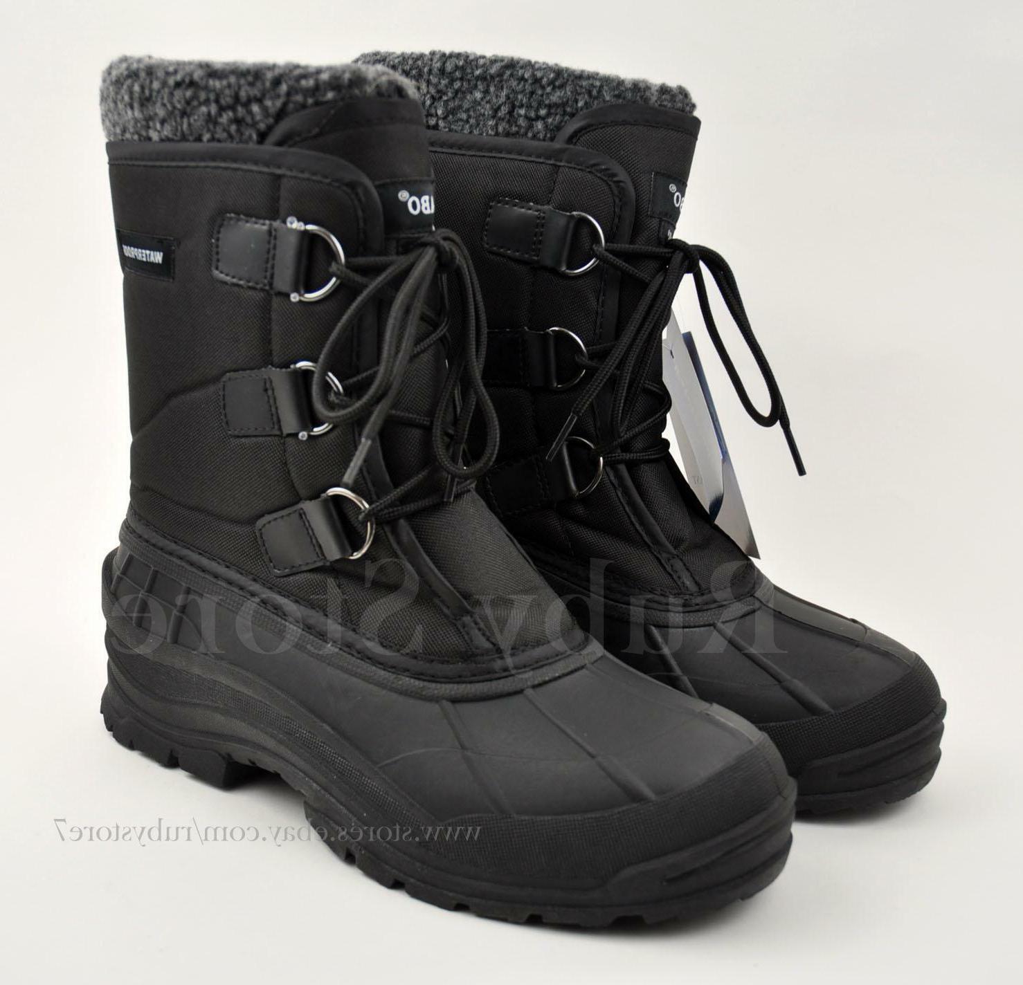 "Men's Black 9"" Winter Snow Hunting Work Boots Shoes Waterpro"