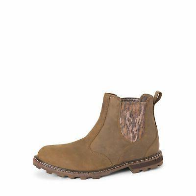men s leather waterproof chelsea rain boot
