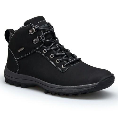 Men's Leather Work Boots Ankle