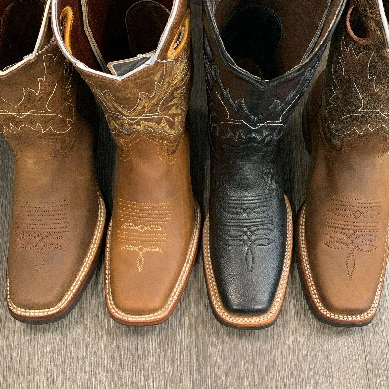MEN'S COWBOY GENUINE SQUARE TOE BOOTS