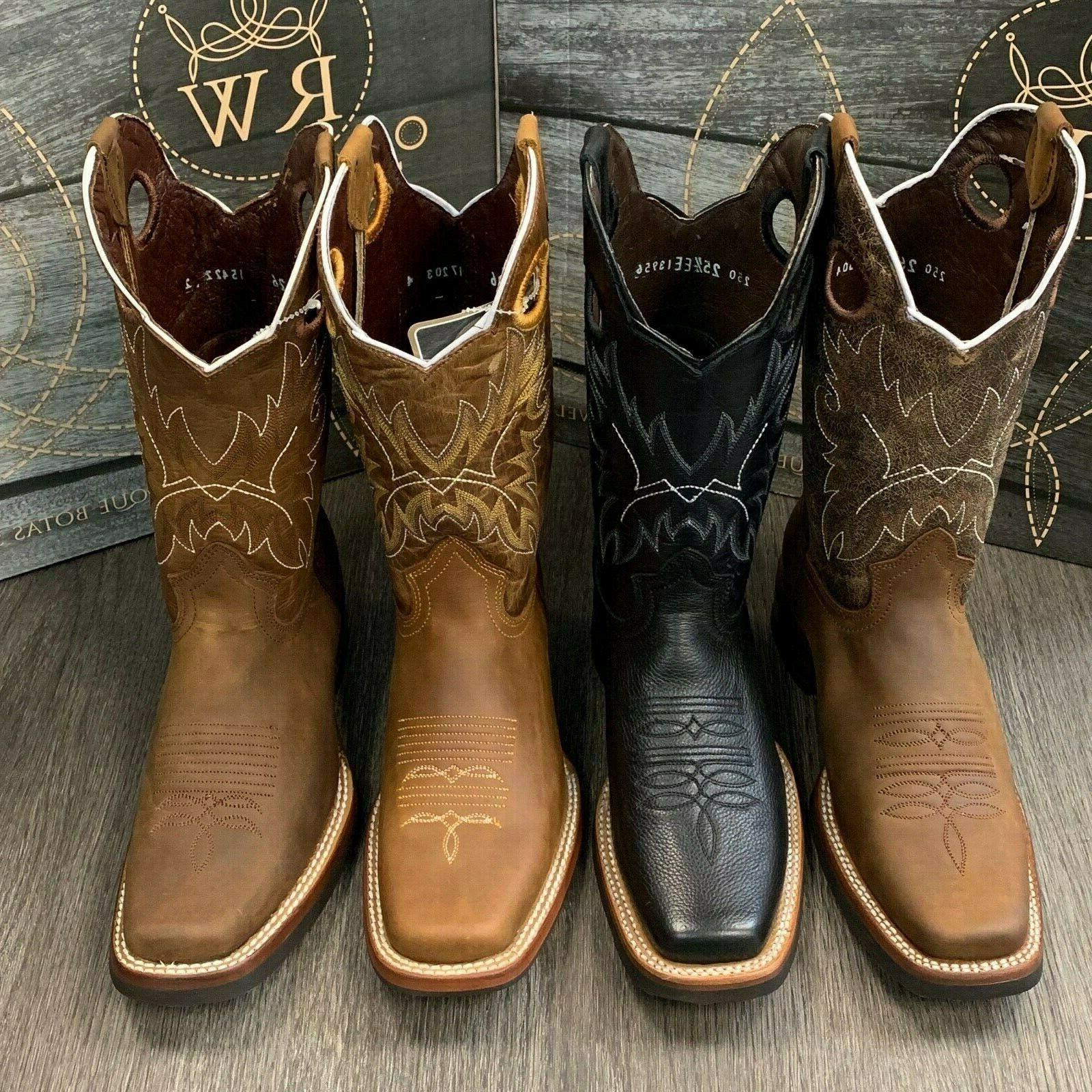 MEN'S RODEO GENUINE RUBBER SQUARE TOE BOOTS