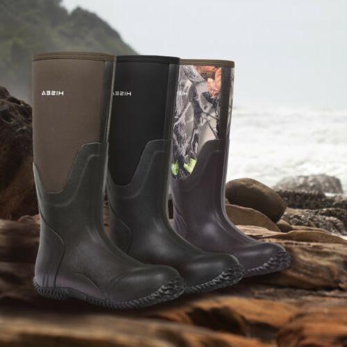 HISEA Rubber Neoprene Boots Insulated Muck