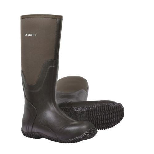 HISEA Men's Rubber Boots Muck Boot