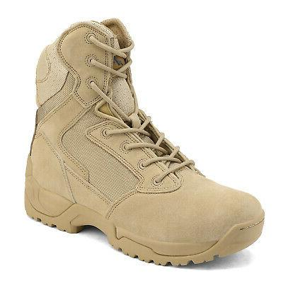 Men's Military Boots Bootie New