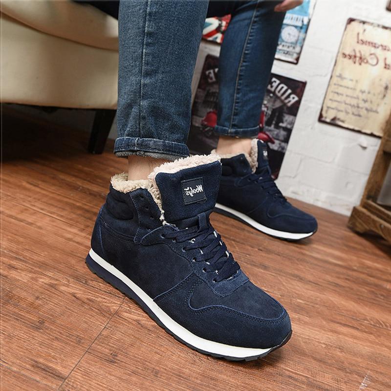 Men Men <font><b>Boots</b></font> Winter <font><b>Sneakers</b></font> <font><b>Boots</b></font> Size Ankle Botines Hombre Blue Mans Footwear