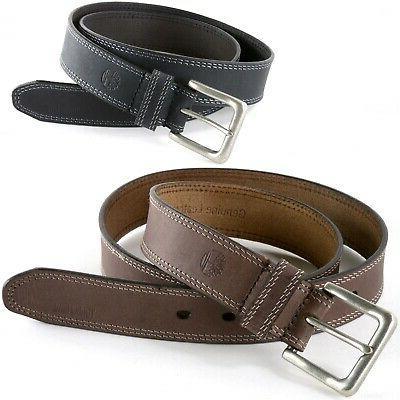 mens 35mm casual belt boot cut leather
