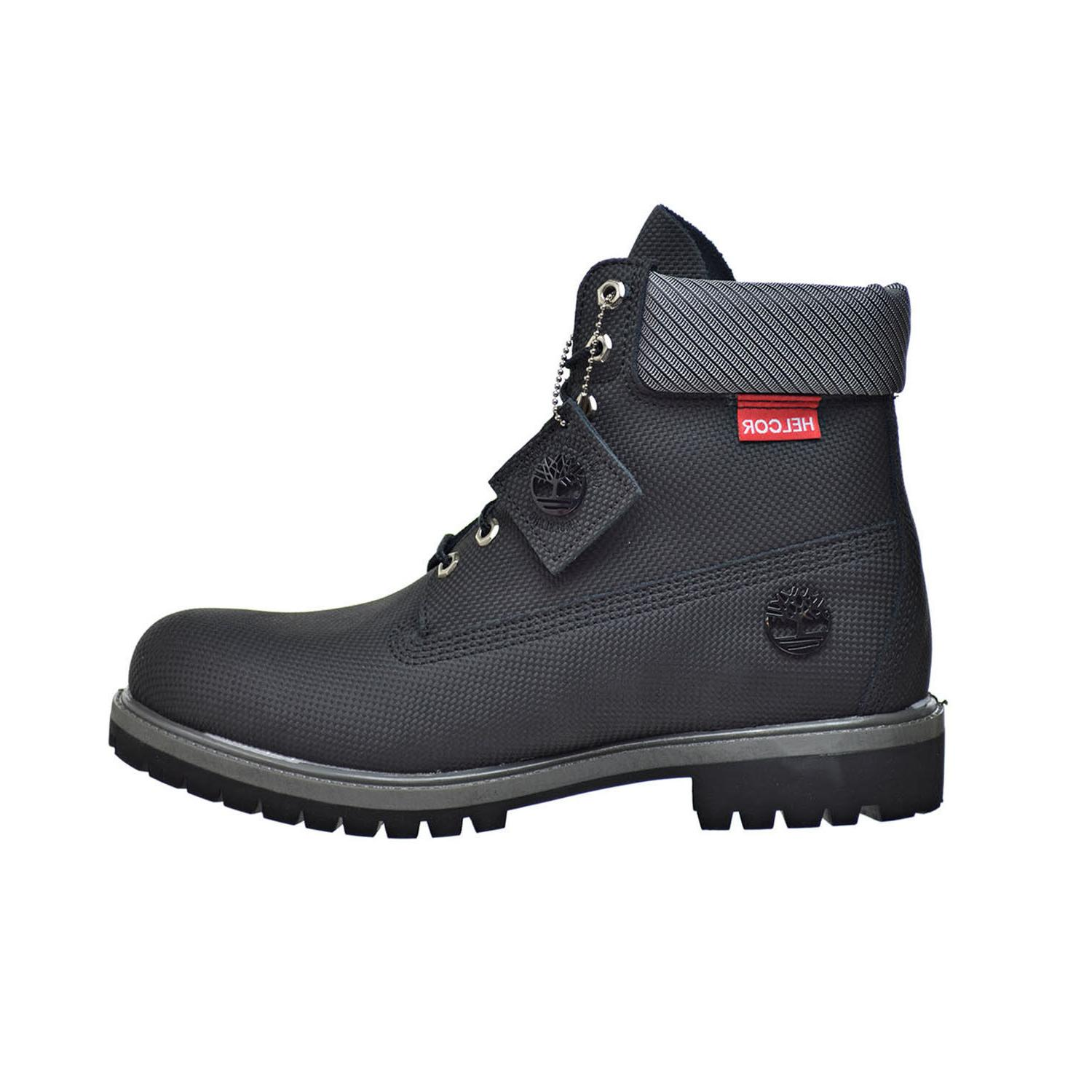 TIMBERLAND BLACK LEATHER PREMIUM BOOTS A181U Sz:8-13