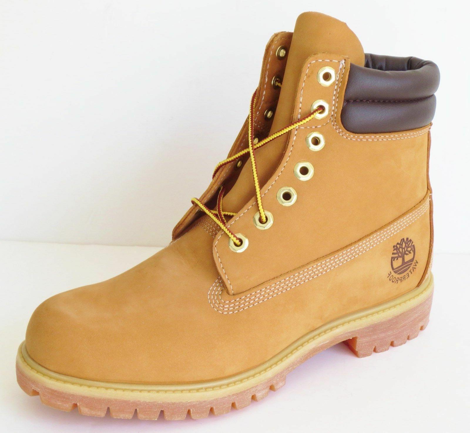 mens 6 inch double sole premium leather