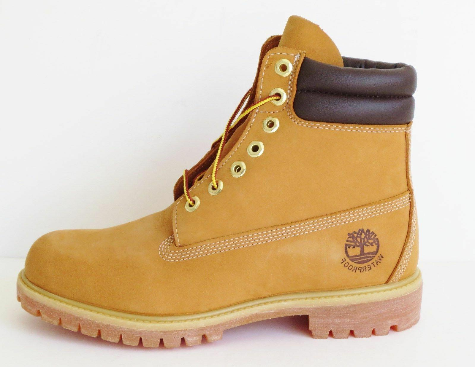 Timberland Mens 6 Inch Double Sole Premium Leather  Work Boo