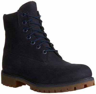mens 6 inch premium waterproof boots navy