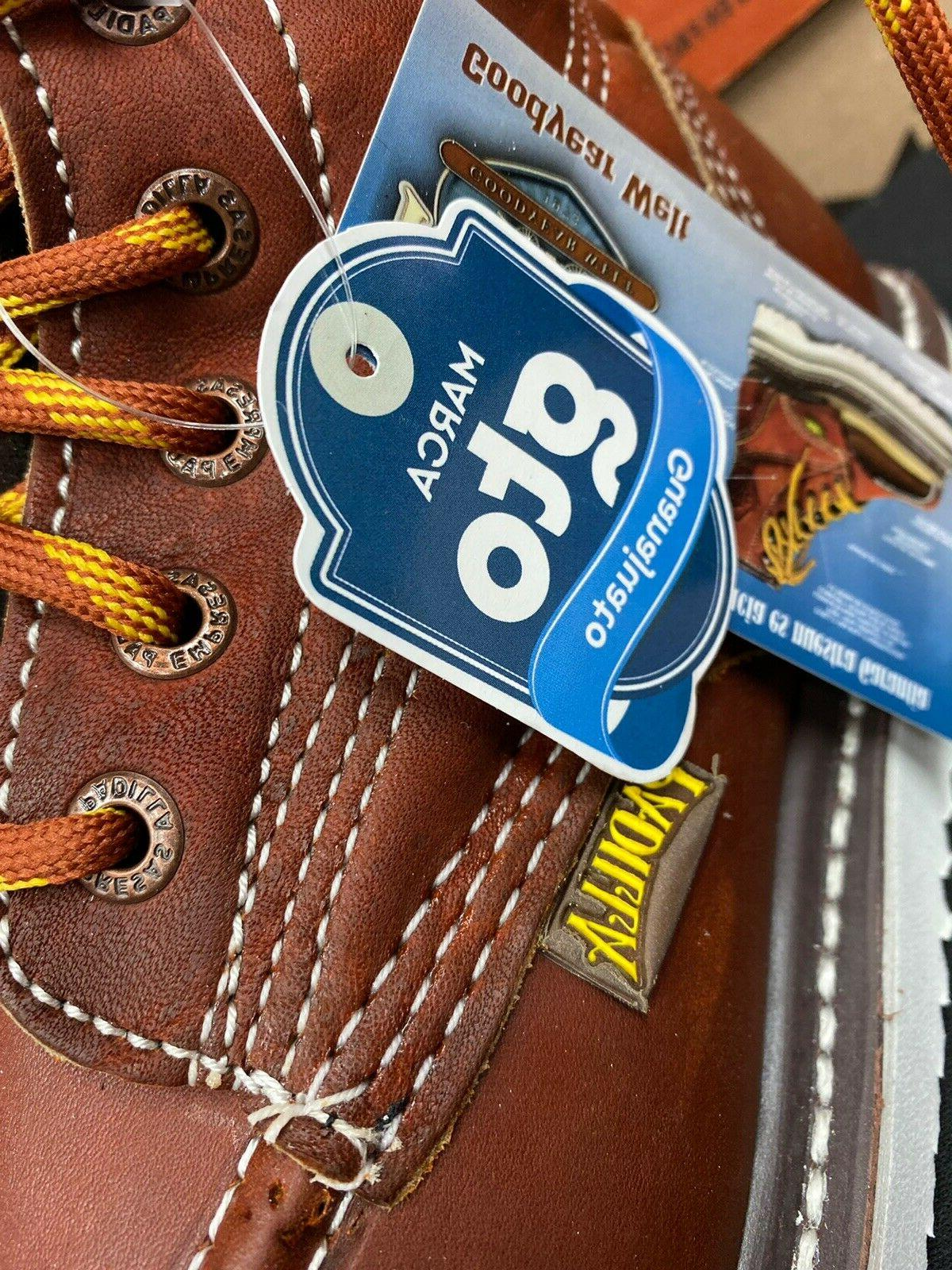Men's Soft Moc Toe Safety Slip Resistant Waterproof Work Boots