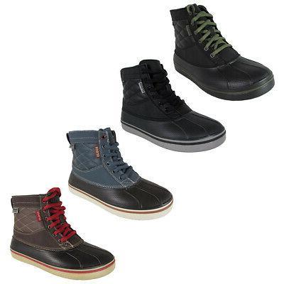 mens allcast waterproof duck boot shoes