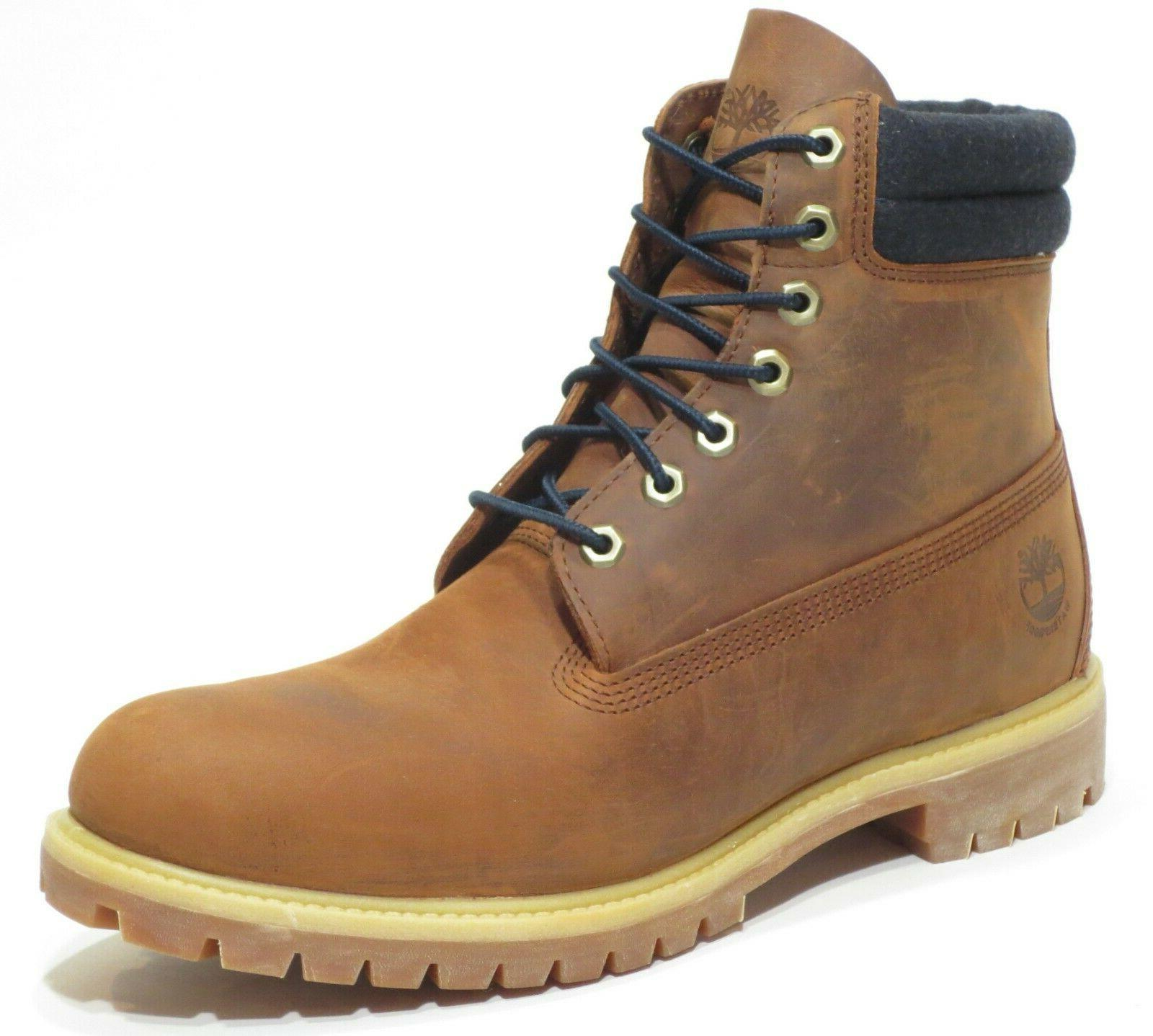 mens brown 6 inch double sole premium