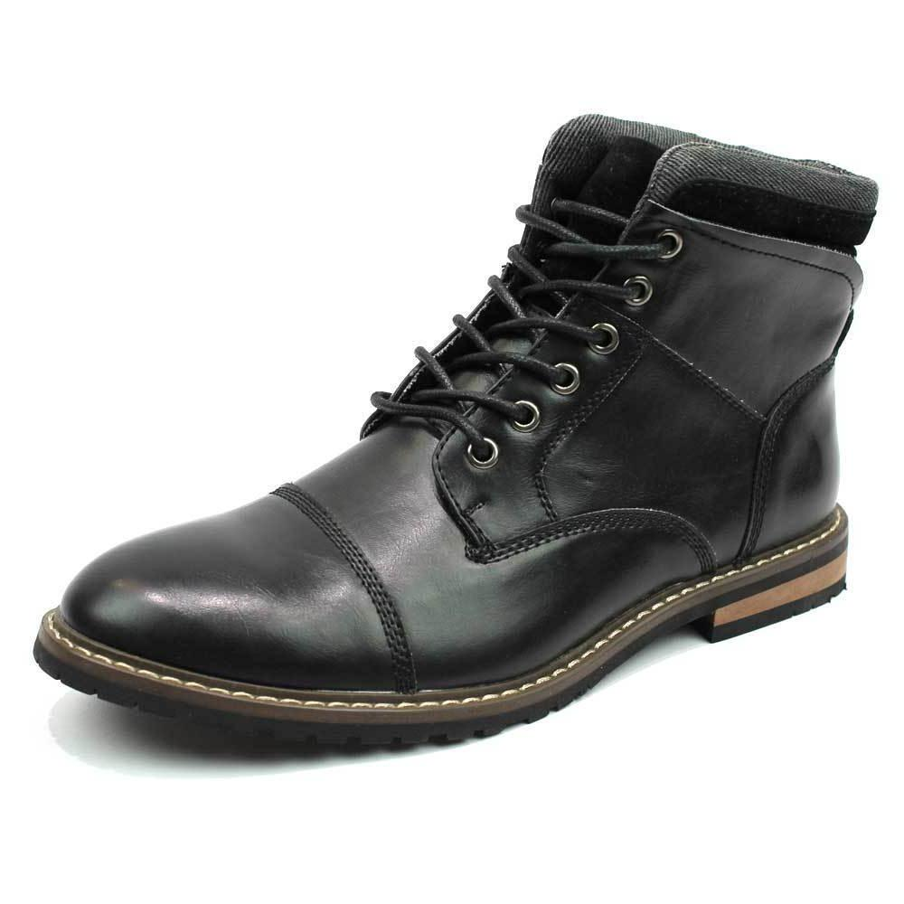 Mens Dress Boots Lace Up Footwear