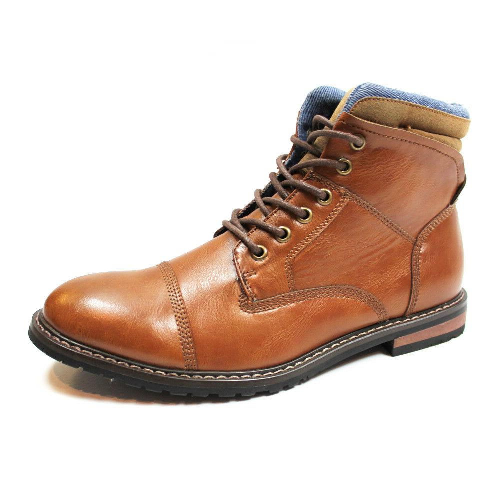 mens cap toe ankle dress derby boots