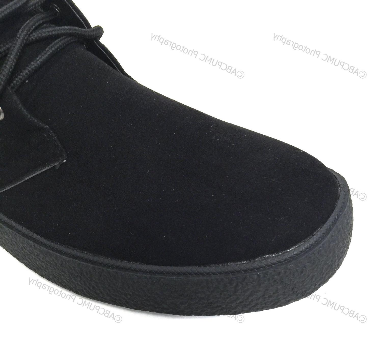 Mens Chukka Boots Wallace Lined Suede
