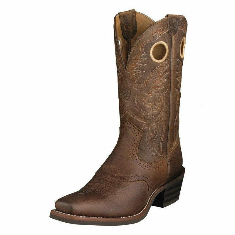 mens cowboy western boots 10002227 heritage roughstock