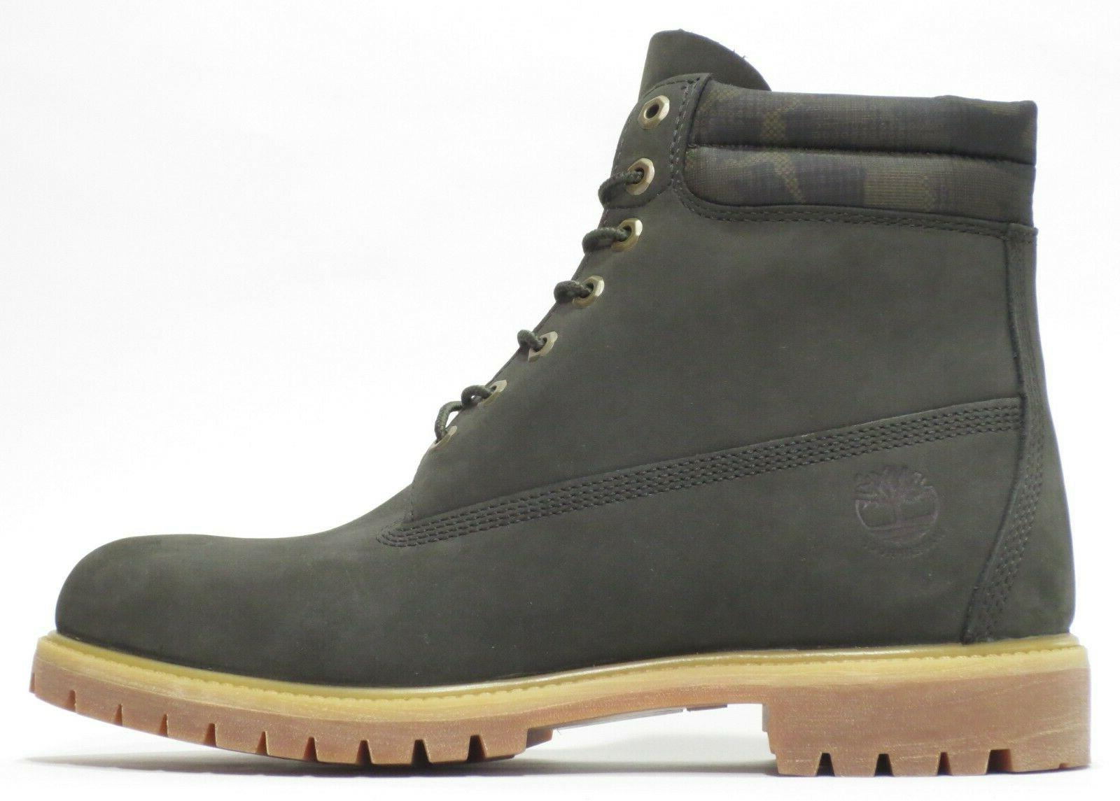 Timberland Green 6 Sole Leather Work Size 12 A1QZF