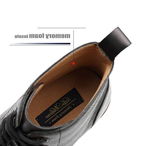 La Mens Boots Cap Toe Lace up Casual Comfortable Ankle Boots Men
