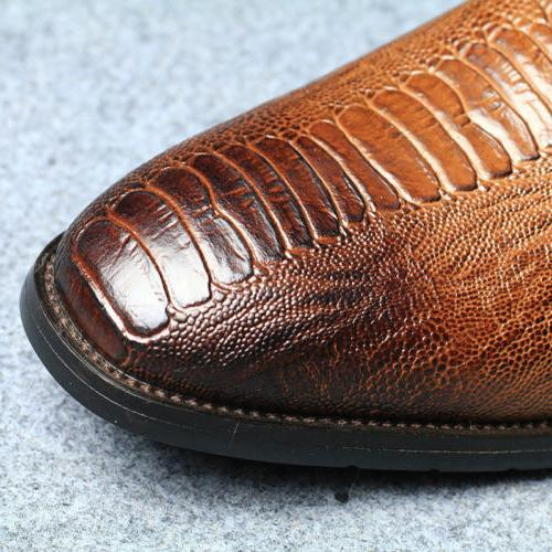 Mens Martin Crocodile Shoes on Side New