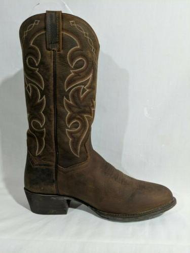 Dan Post Mens Mignon Western Stitch Leather