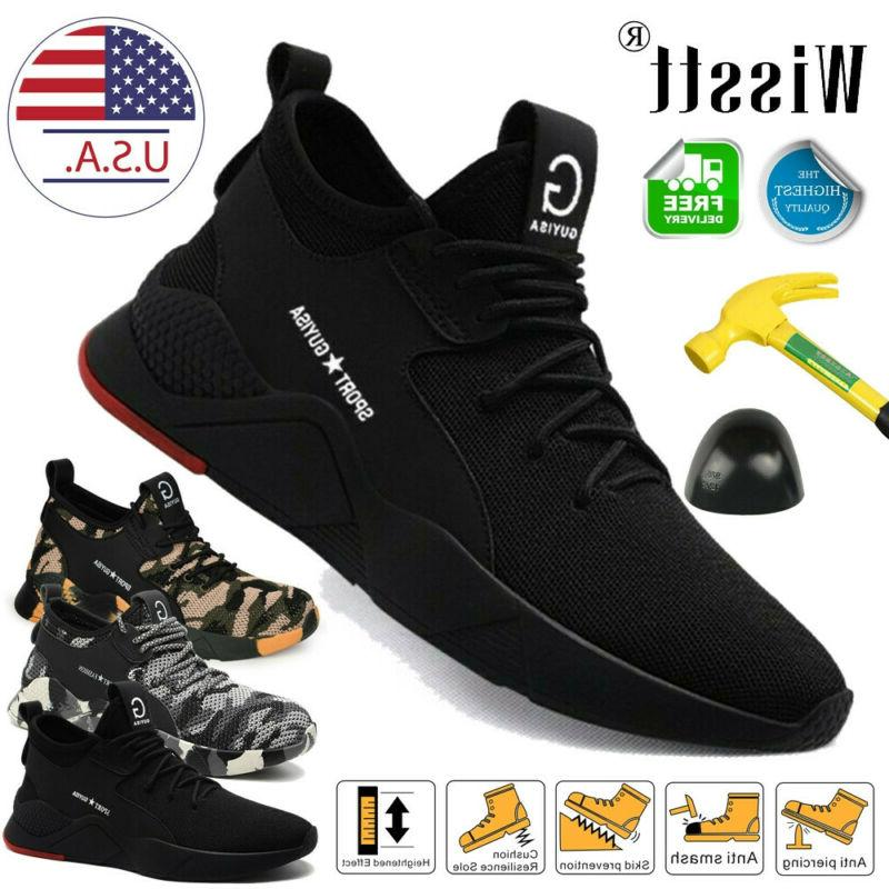 mens safety shoes steel toe work boots