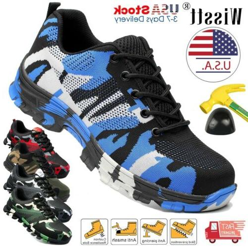 mens safety work shoes steel toe boots