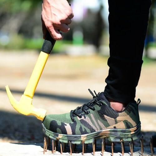 Mens Work Steel Toe Indestructible Outdoor Casual Sneakers