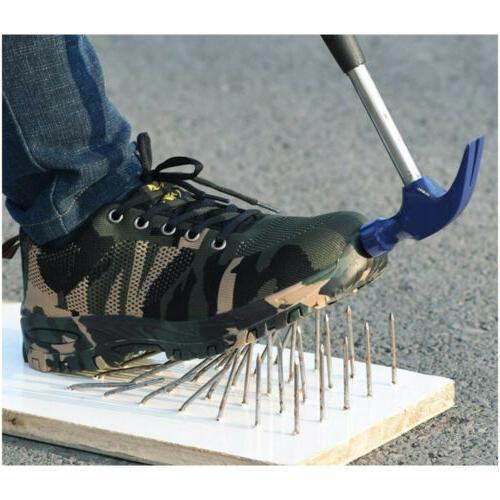 Mens Steel Toe Bulletproof Sport Sneakers