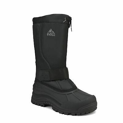 mens snow boots water resistant insulated fur
