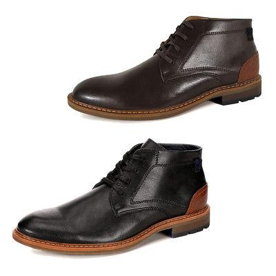 mens wayne leather chukka ankle boot shoes