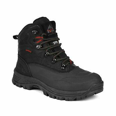 NORTIV 8 Men Winter Snow Boots Outdoor Waterproof Ankle Leat