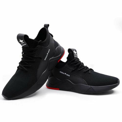 Mens Shoes Toe Cap Sneakers Lightweight Breathable