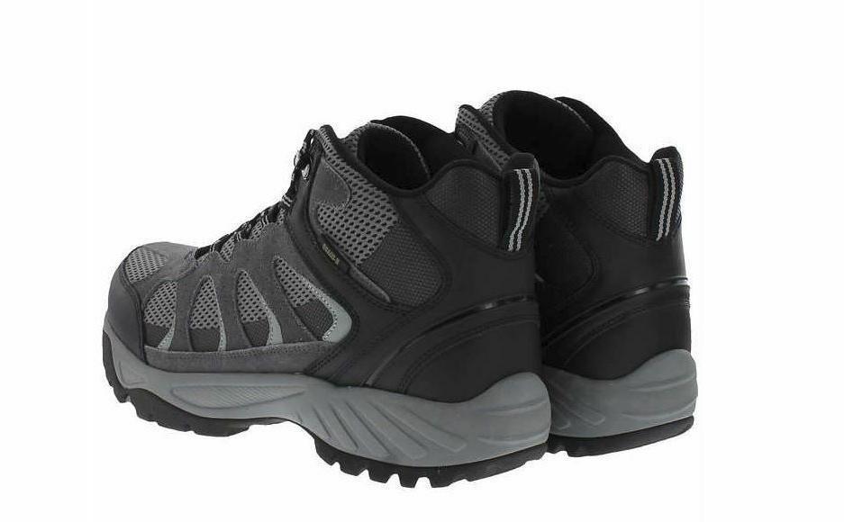 New Khombu Men's Hiking Waterproof Black Gray Size