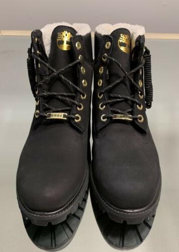 Timberland Premium Inches WP Warm Lined Mens Black Nubuck TB0A2957 001