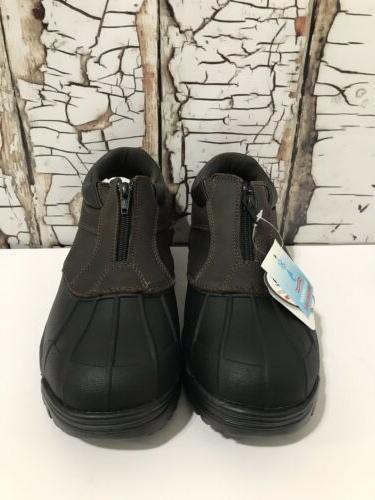 propet blizzard ankle zip m3786 brown black