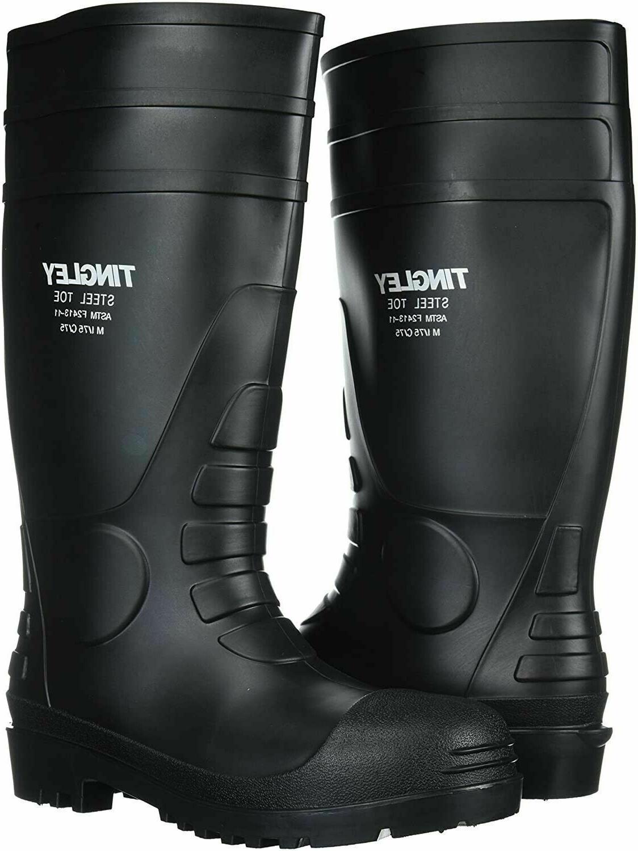 Rubber 31251.12 Steel-Toe Boots, Black PVC, 15-In., Mens Siz