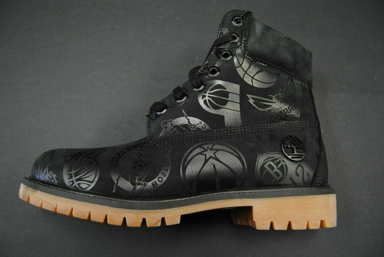 """Timberland vs West NBA 6"""" Black Leather Boots Size 9.5"""