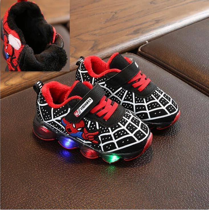 Warm Kids <font><b>Led</b></font> Sneakers Children Fashion Luminous Shoes Girls Boys Children's
