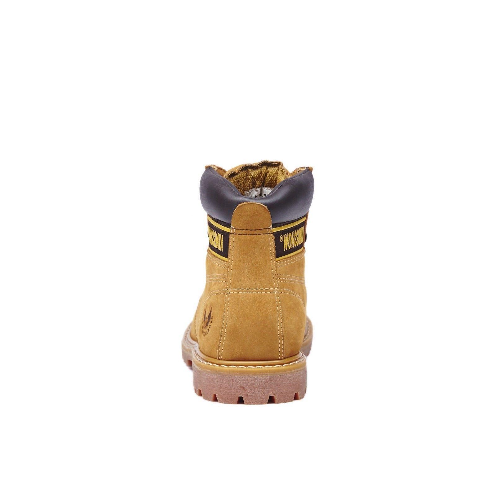 Kingshow Mens Work Leather Waterproof