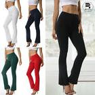 Women High Waist Yoga Pants Wide Leg Boot Flared Slim Sports