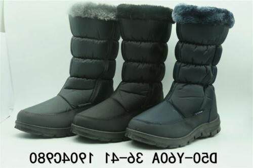 Women's Winter Snow Boots Waterproof Insulated Fur Lined Mid