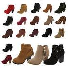 Womens High Heels Booties Platform Ankle Lace Up Boots Fashi