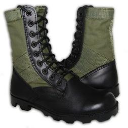 KRAZY SHOE ARTISTS Leather Military Jungle Boots 8 Inch Men'