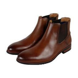 Steve Madden Leston Mens Brown Leather Casual Dress Slip On