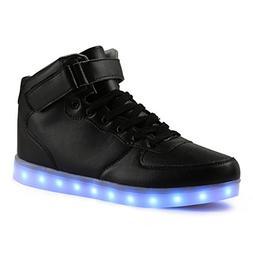 AFFINEST Led Light Up Shoes for Men Women High Top Casual Fl