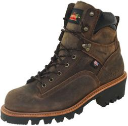 """Thorogood Men's 6"""" Waterproof Soft Toe Logger Boots Made in"""